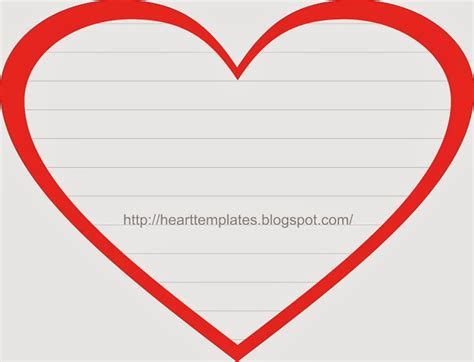 search results for heart writing template with lines