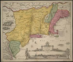 Map Of New York Colony by Colonial New York Colony Map