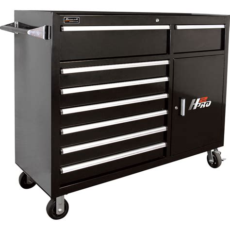 Tool Storage Cabinets Homak H2pro 56in 8 Drawer Roller Tool Cabinet With 2 Compartment Drawers Black Ebay