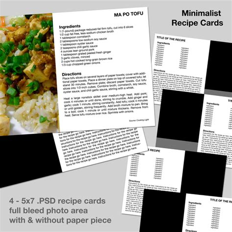 Microsoft Office 2010 Recipe Card Template by Minimalist Recipe Scrapping With Templates Simple Scrapper