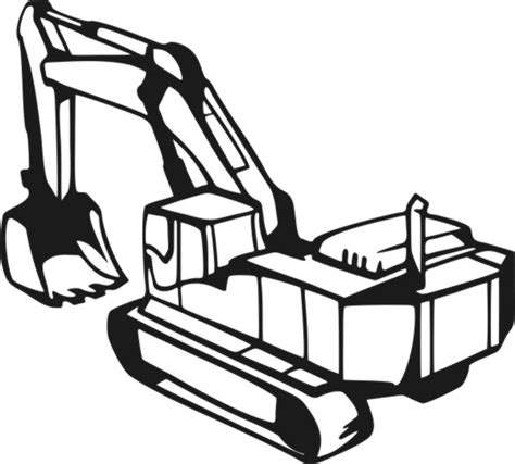 excavator coloring pages free excavator colouring pages