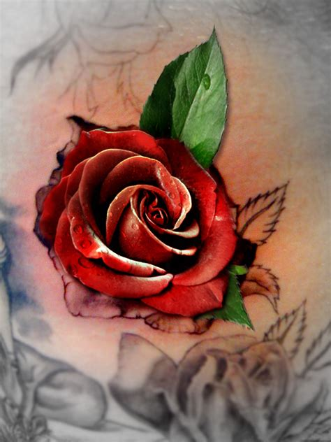 rose tattoo 3d tatoo picture by genuine2009 for living tattoos