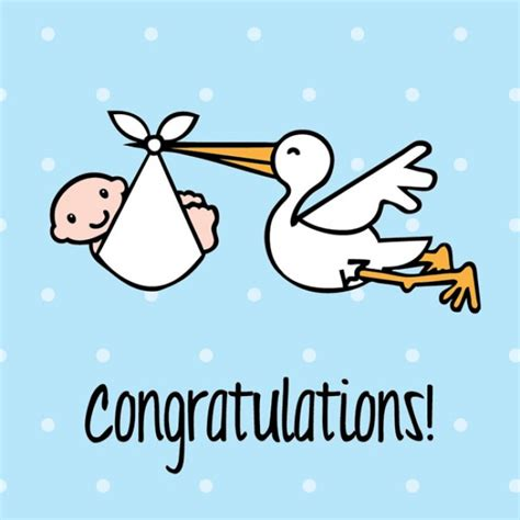 Congrats On Baby Shower by Stork Clipart Baby Congratulation Pencil And In Color