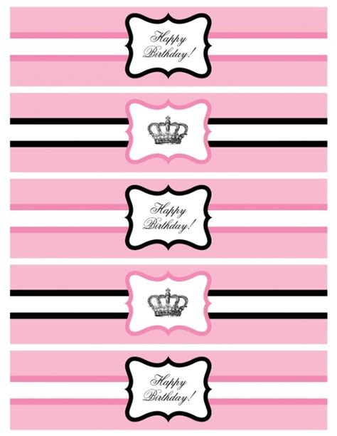water bottle label template free the top dessert tables and pretty