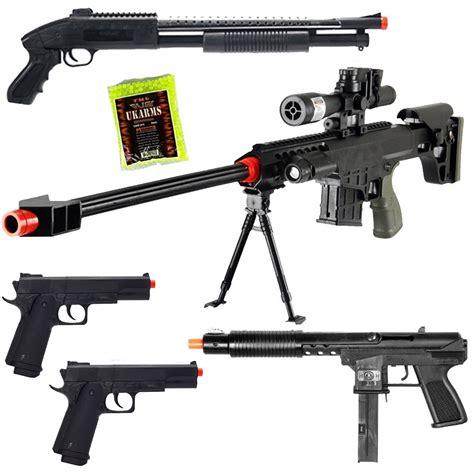 Ebay Airsoft | new lot of 5 airsoft guns sniper rifle shotgun machine