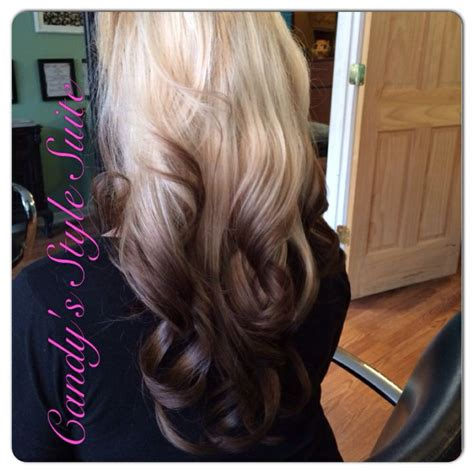 color melt with darkerr root reverse ombr 233 platinum blonde to dark long hair ombr 233