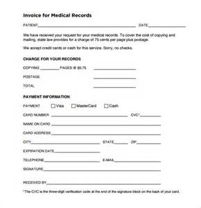 records template invoice template 8 free sles exles format