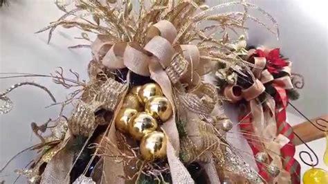 varias ideas para decorar arbol de navidad en dorado 2017