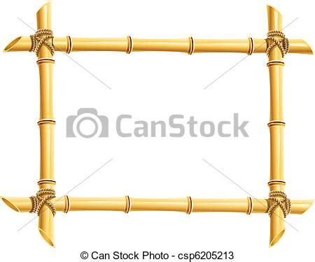 cornici bussolari vectors of wooden frame of bamboo sticks vector