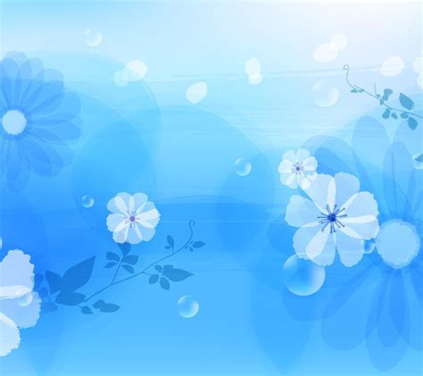 wallpaper tema biru gambar wallpaper bunga biru gudang wallpaper