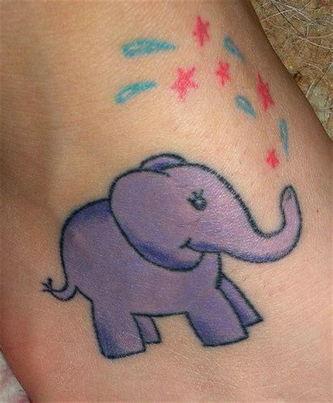 elephant tattoo purple 50 baby elephant tattoos ideas