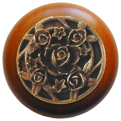 Cherry Wood Cabinet Knobs by Notting Hill Saratoga Cherry Wood Knob Antique