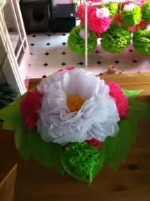 tissue paper flower centerpieces tissue paper flower centerpiece crafts and diy