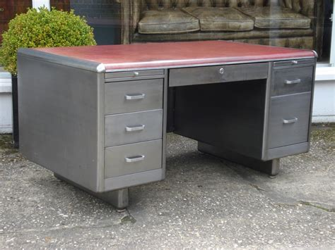 sold 20th century polished steel desk antique desks