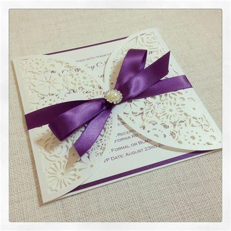 Luxe Laser Cut Wedding Invitation - luxe laser cut