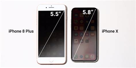 the iphone x is smaller than the iphone 8 plus but it has the largest iphone screen apple has