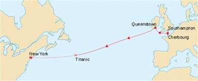 Titanic Route Map by The Gallery For Gt Titanic Shipwreck Map