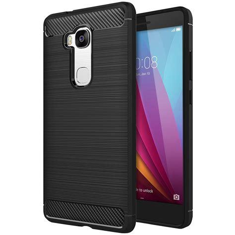 Huawei Honor Gr5 5x Carbon Armor Soft Cover Casing Keren Mewah flexi carbon fibre tough huawei gr5 2015 black
