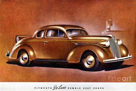 painting plymouth 1937 plymouth deluxe rumble seat coupe painting by vincent