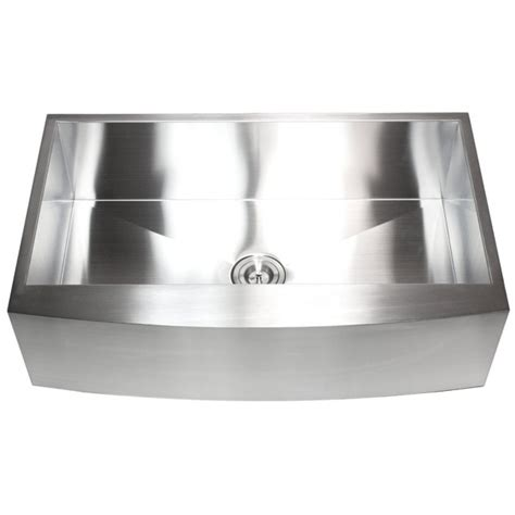 Curved Kitchen Sink 36 Inch Stainless Steel Single Bowl Curved Front Farm Apron Kitchen Sink