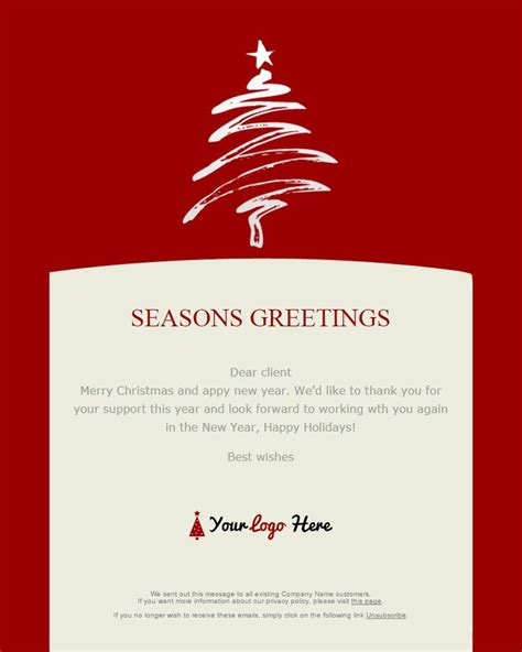 104 20 Free Christmas And New Year Email Templates Greeting Email Template