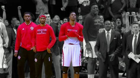 rockets bench dwight howard talk of bench reaction big deal out of