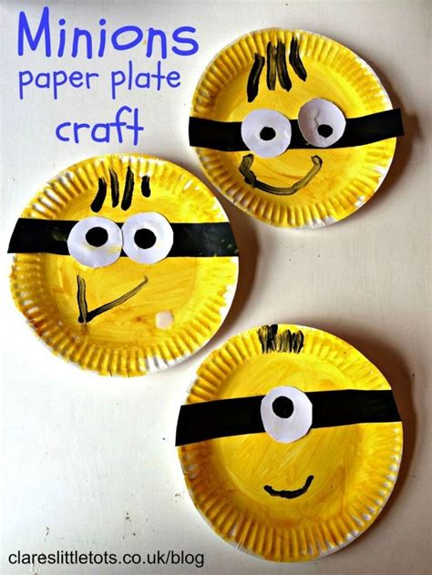 Crafts With Paper Plates For Preschoolers - minions craft minion craft craft and activities