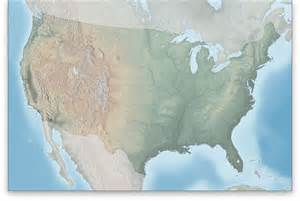 relief map of united states survival techniques