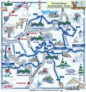 grand mesa colorado map grand mesa snowmobile trails map colorado vacation directory