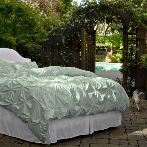 seafoam comforter 400 thread count pintuck duvet cover the valencia sea