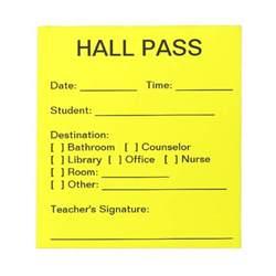 hallway pass hall pass pad zazzle