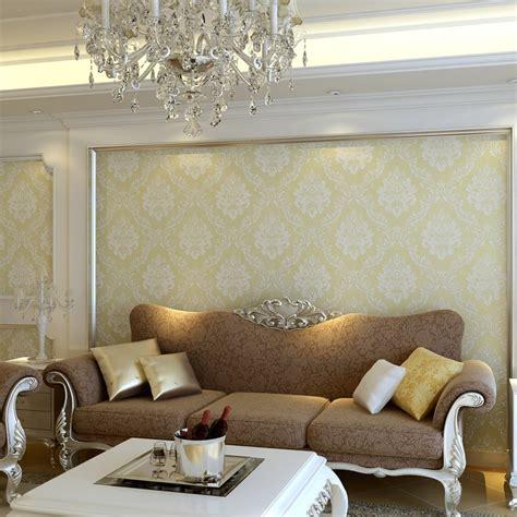 luxury flocking textured wallpaper modern wall paper roll luxury european flock non woven metallic floral damask