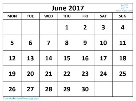 June 2017 Calendar Printable Template Pdf Uk Usa Canada Calendar Template Letter Format Calendar 2017 Template Pdf