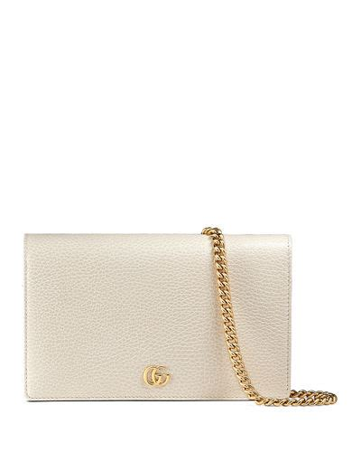 Gucci Marmont Wallet On Chain gucci marmont wallet on a chain in black modesens