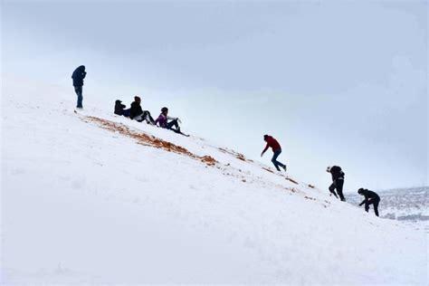 sahara snowfall sahara desert hit by biggest snowfall in living memory