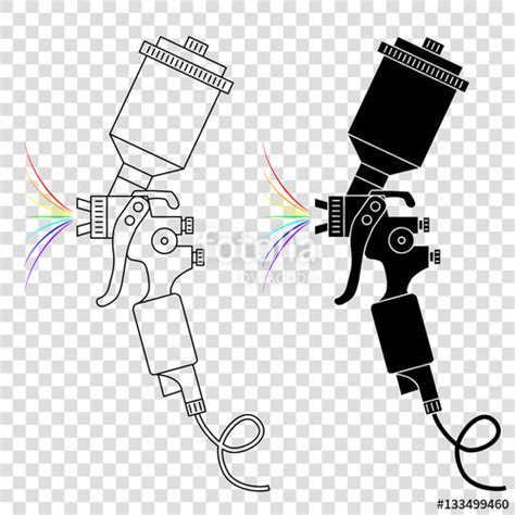 eps format paint net quot spray gun vector silhouettes isolated on background