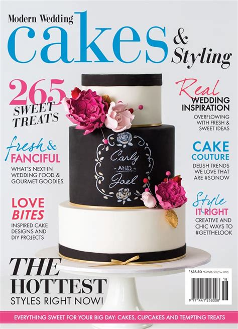 Wedding Cakes Magazine by New Modern Wedding Cakes Magazine On Sale