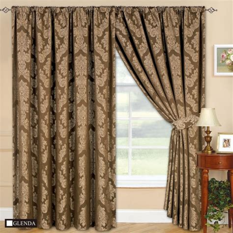 what are jacquard curtains fully lined designer jacquard curtains with tie back