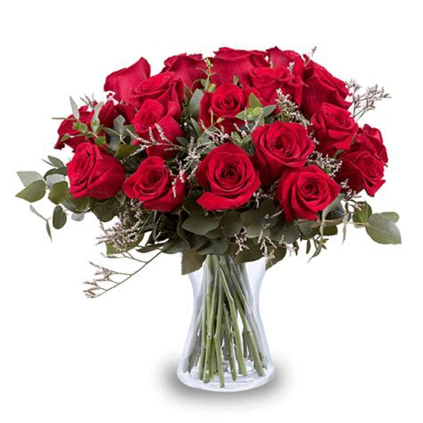 24 Red Roses   International Flower Delivery   FloraQueen