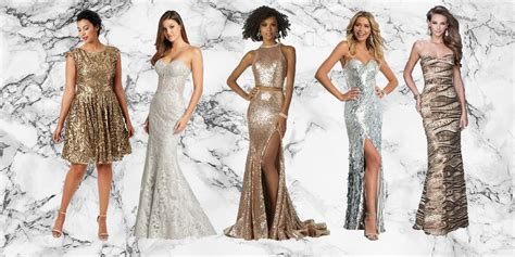 gold silver  metallic prom dresses  cute