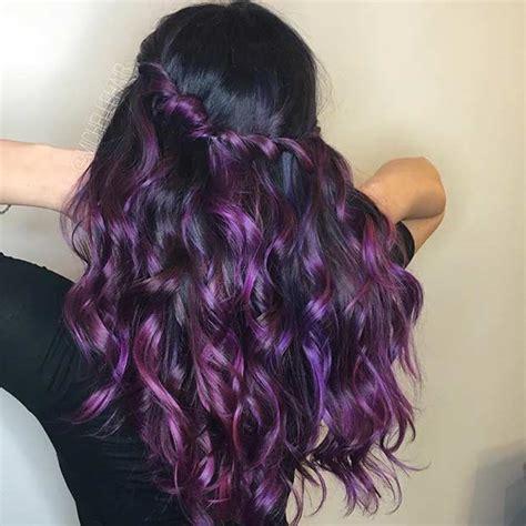 black n purple hair 21 bold and trendy dark purple hair color ideas stayglam