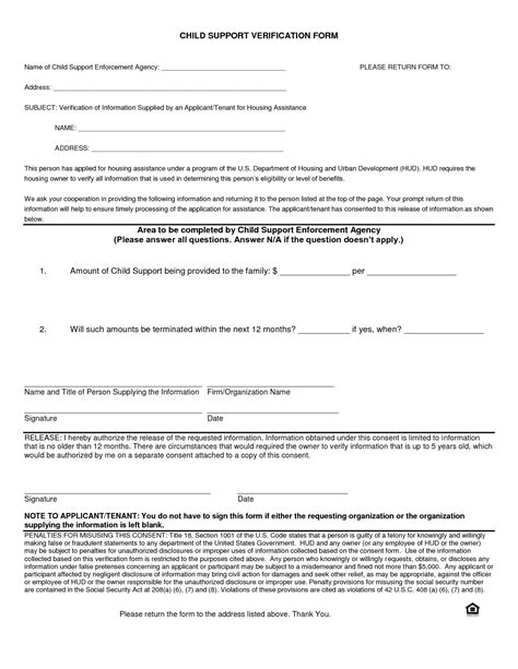 Letter Of Agreement To Pay Child Support best photos of notarized letter format for child support