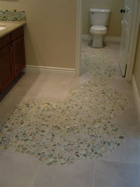 sliced sea green and white pebble tile pebble tiles
