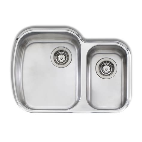 Oliveri Undermount Kitchen Sinks Oliveri 820 X 500mm 1 5 Bowl Monet Undermount Sink Bunnings Warehouse