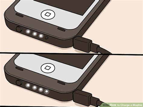mophie 4 blinking lights how to charge a mophie 4 steps with pictures wikihow