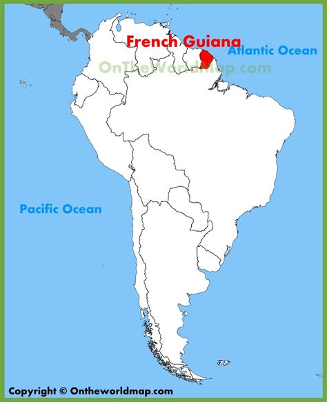 location of america in world map guiana location on the south america map