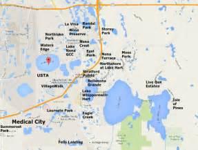 map of lake florida and surrounding areas lake nona orlando lake nona homes for sale