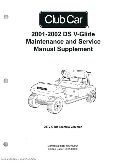 service manual car owners manuals for sale 2002 chevrolet express 1500 seat position control 2001 2002 club car ds v glide golf car maintenance and service manual supplement