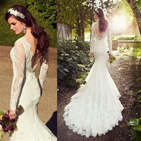 Backless Lace Wedding Dress Designers: Backless Bridal