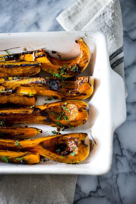 roasted butternut with black garlic miso feasting at home